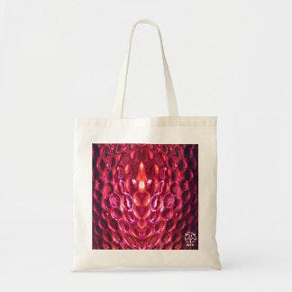 Pink Snake Skin Sheen Tote Bag