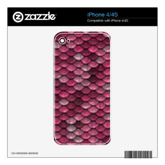 Pink Snakeskin Background iPhone 4 Skin