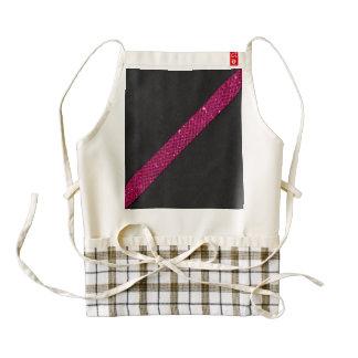 Pink snakeskin glitter effect stripe black leather zazzle HEART apron