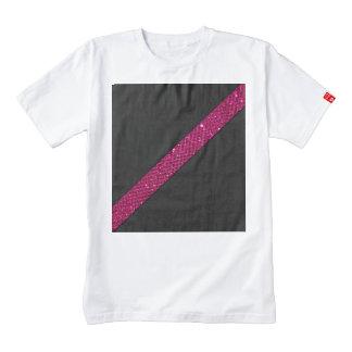 Pink snakeskin glitter effect stripe black leather zazzle HEART T-Shirt