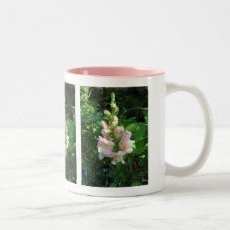 Pink Snapdragon Two-Tone Coffee Mug