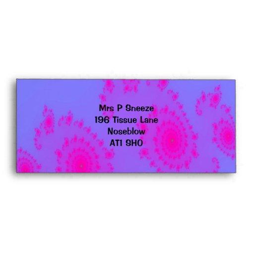 Pink Sneeze Customizable Envelope