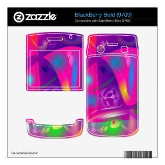 Pink Snow BlackBerry Bold Decals