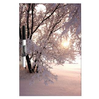 Pink Snow Sunset Dry-Erase Board