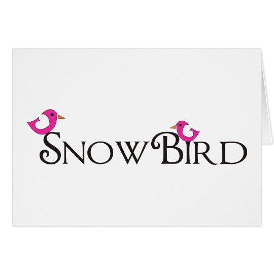 Pink Snowbird Card