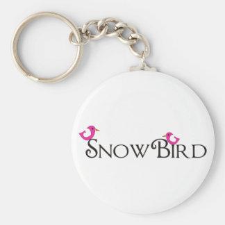 Pink Snowbird Keychain