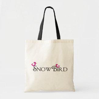 Pink Snowbird Tote Bag