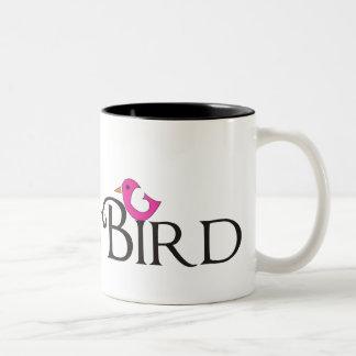 Pink Snowbird Two-Tone Coffee Mug