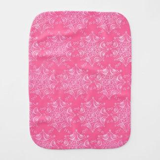 Pink Snowflake Girly Blush Winter Snow Pattern Baby Burp Cloth