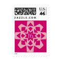Pink Snowflake Sweet 16 stamp