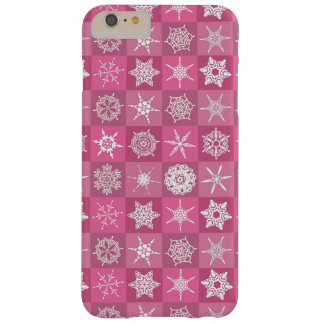 Pink Snowflakes Barely There iPhone 6 Plus Case