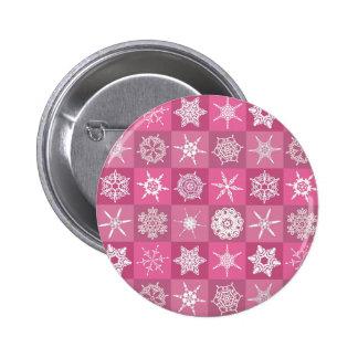 Pink Snowflakes Pin