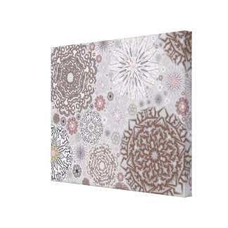 Pink Snowflakes Canvas Prints