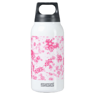 Pink Snowflakes Insulated Water Bottle