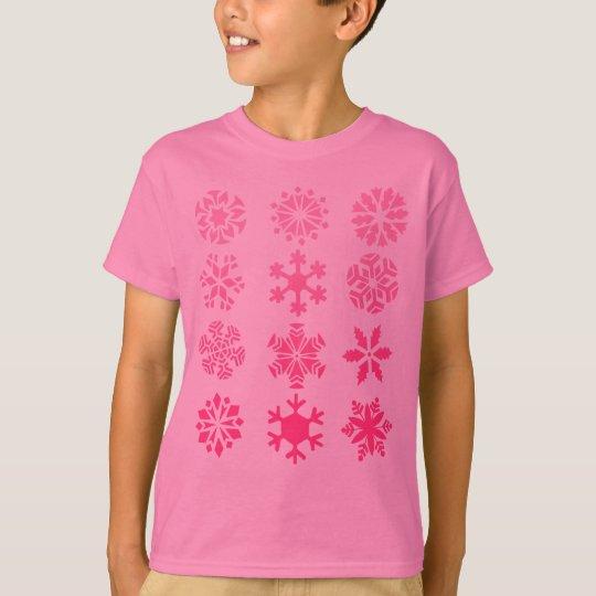 Pink Snowflakes - Kids T-shirt (pink)