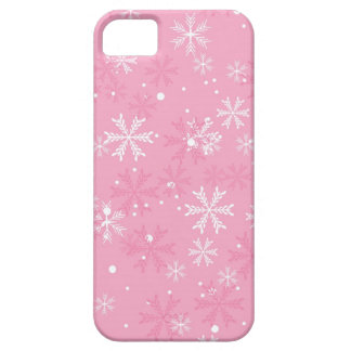 Pink Snowflakes Pattern iPhone 5 Covers