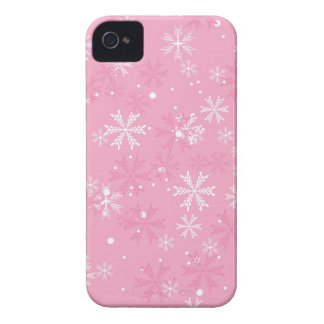 Pink Snowflakes Pattern iPhone 4 Case-Mate Cases