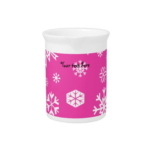 Pink snowflakes pattern drink pitcher