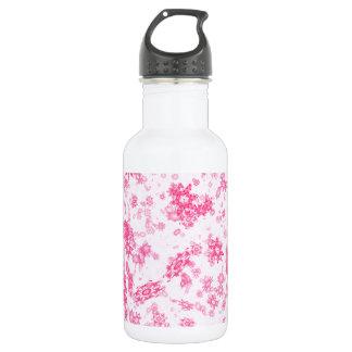 Pink Snowflakes 18oz Water Bottle
