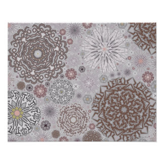 Pink Snowflakes Poster