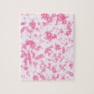 Pink Snowflakes Jigsaw Puzzle