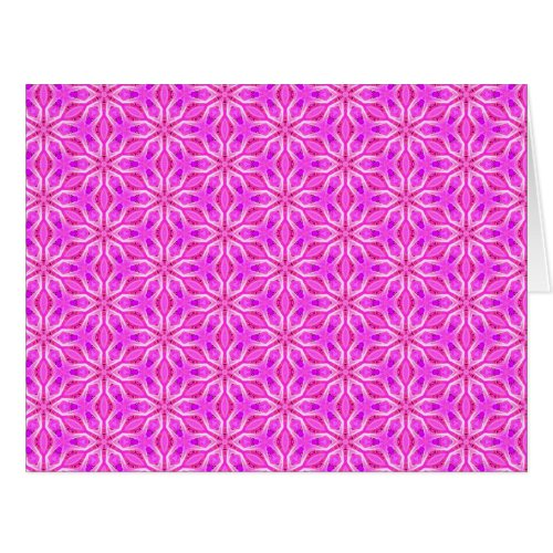 Pink Snowflakes Spinning in Abstract Winter