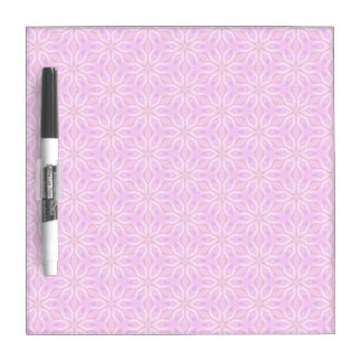 Pink Snowflakes Spinning in Abstract Winter Dry-Erase Board