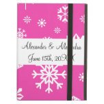 Pink snowflakes wedding favors iPad covers