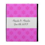 Pink snowflakes wedding favors iPad folio covers