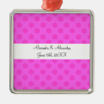 Pink snowflakes wedding favors ornaments