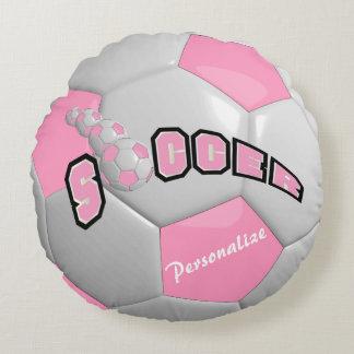 Pink Soccer Ball | DIY Name Round Pillow