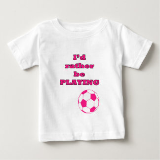 Pink Soccer Ball / Football Illustration and Quote T Shirt