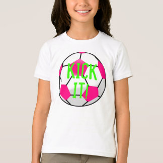 Pink soccer ball KICK IT t-shirt