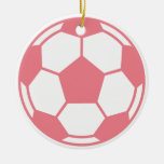 Pink Soccer Ball Ornament