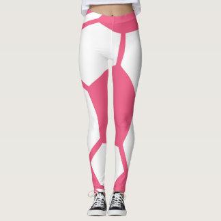 Pink Soccer Ball Pattern Leggings