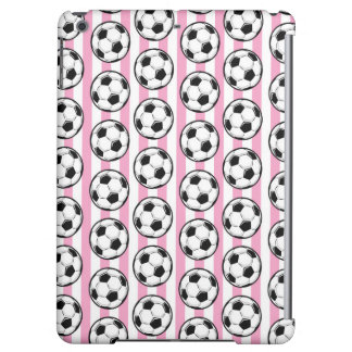 Pink Soccer Ball Stripes Case For iPad Air
