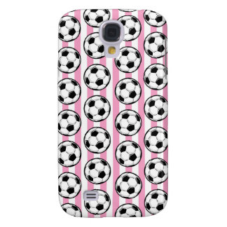 Pink Soccer Ball Stripes Galaxy S4 Cover
