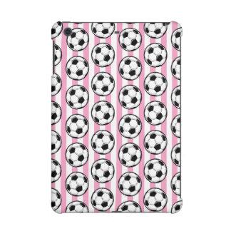 Pink Soccer Ball Stripes iPad Mini Retina Case