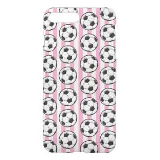 Pink Soccer Ball Stripes iPhone 8 Plus/7 Plus Case