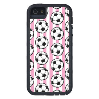 Pink Soccer Ball Stripes iPhone SE/5/5s Case