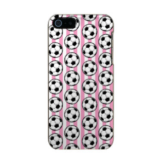 Pink Soccer Ball Stripes Metallic Phone Case For iPhone SE/5/5s