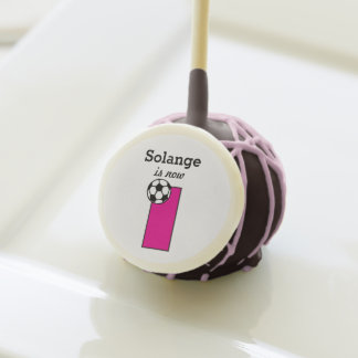 Pink Soccer First Birthday Custom Cake Pops