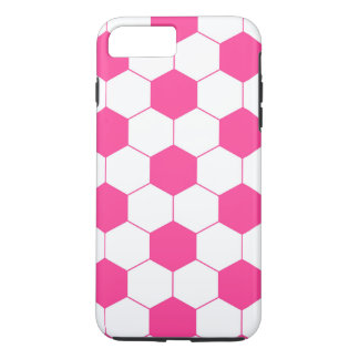 Pink Soccer Football Ball Pattern iPhone 8 Plus/7 Plus Case