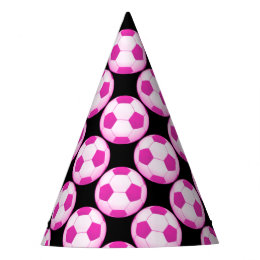 Pink Soccer | Football Pattern Sport Gift Party Hat