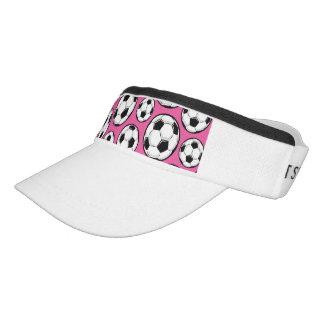 Pink Soccer Girl Pattern Visor