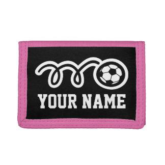 Pink soccer girl wallet | Sporty kids design