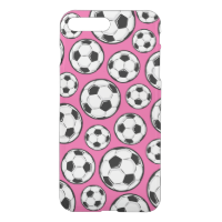 Pink Soccer iPhone 7 Plus Case