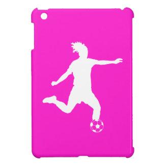 Pink Soccer Silhouette iPad Mini Case