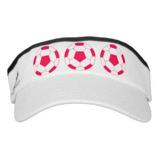 Pink Soccer Sports Balls for Soccer Mom or Fan Visor