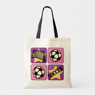 Pink Soccer Tote Bag